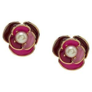 Kate Spade art deco blossom stud earrings